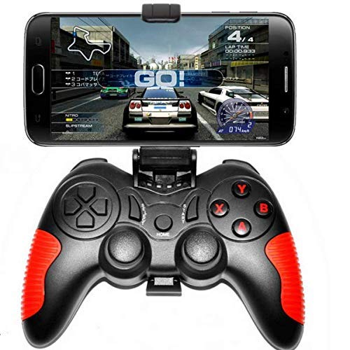 L&WB Wireless Game Controller Gamepad Bluetooth Android iOS System 360° Joystick Best Gift Boys(Red) (Best Gta Ios Game)