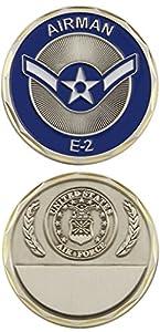 U.S. Air Force Airman E-2 Challenge Coin