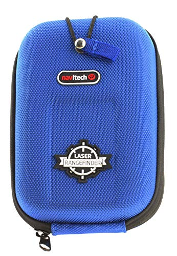 Navitech Blue EVA Rangefinder Hard Case/Cover with Carabiner Clip Compatible with The Bushnell 2017 Pro X2 / Golf Laser Rangefinder/Bushnell G-Force DX ARC 6 x 21mm Laser Rangefinder ()