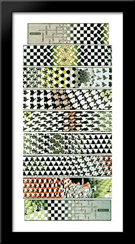Metamorphosis III 28x28 Large Black Wood Framed Print Art by M.C. Escher by ArtDirect