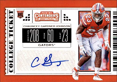 Football NFL 2019 Panini Contenders Draft Tickets College Ticket #240 Chauncey Gardner-Johnson #240 NM Near Mint Auto