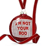 Christmas Decoration I'm Not Your Boo Halloween Bloody Wall Ornament