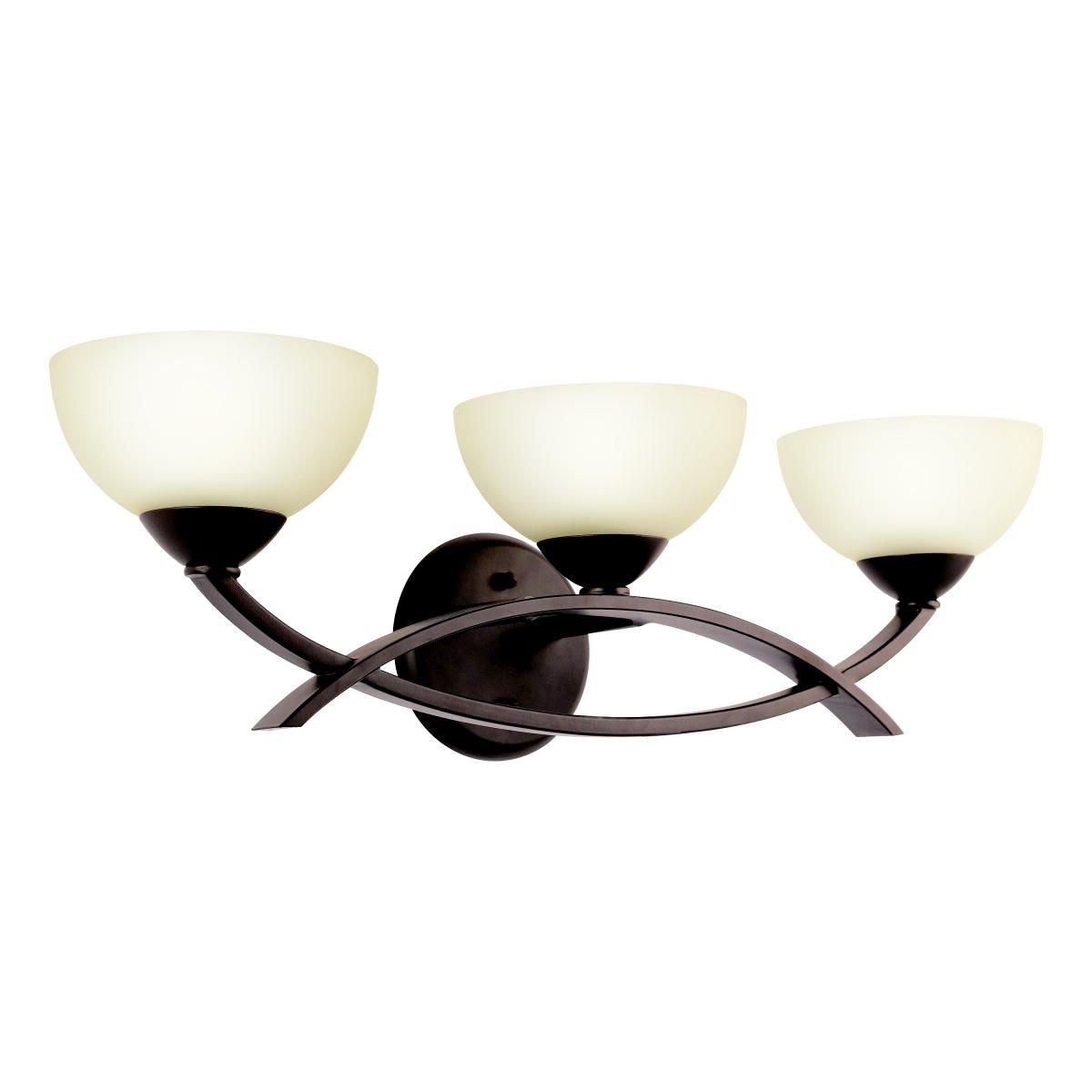Kichler Lighting 45163OZ Bellamy 3-Light Halogen Bath Light, Olde Bronze