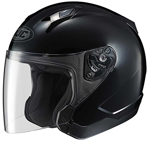 HJC CL-JET Open-Face Motorcycle Helmet (Black, Large)