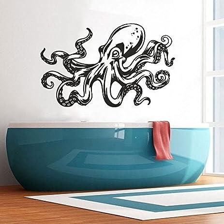 wall decal decor octopus wall decals bathroom decor sea ocean animals tentacles vinyl sticker bedroom decor