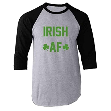 fda7adbf Irish AF St. Patrick's Day Funny Raglan Baseball Tee Shirt at Amazon Men's  Clothing store: