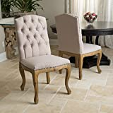 Jolie French Design Weathered Wood Dining Chairs (set of 2)