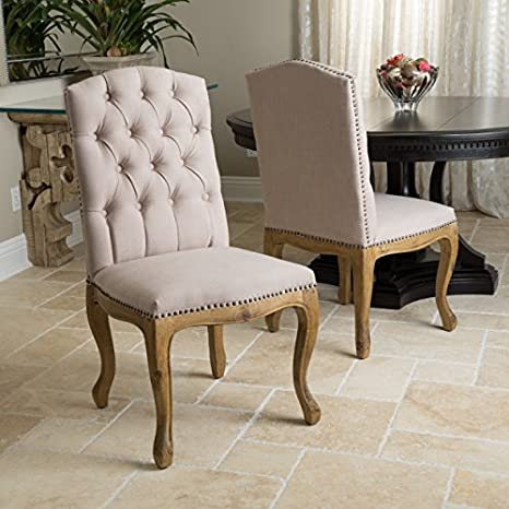Great Deal Furniture 235308 Jolie French Design Weathered Wood Dining Chairs (Set Of 2) by Great Deal Furniture