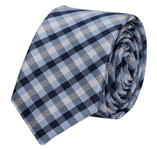 Étroit Cravate de Fabio Farini carreaux bleu noir