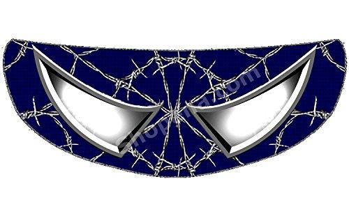 SkullSkins Wired Web Blue Spider-Man Universal Full Face Motorcycle Helmet Windscreen Graphic Visor Tint Shield Sticker Decal by SkullSkins