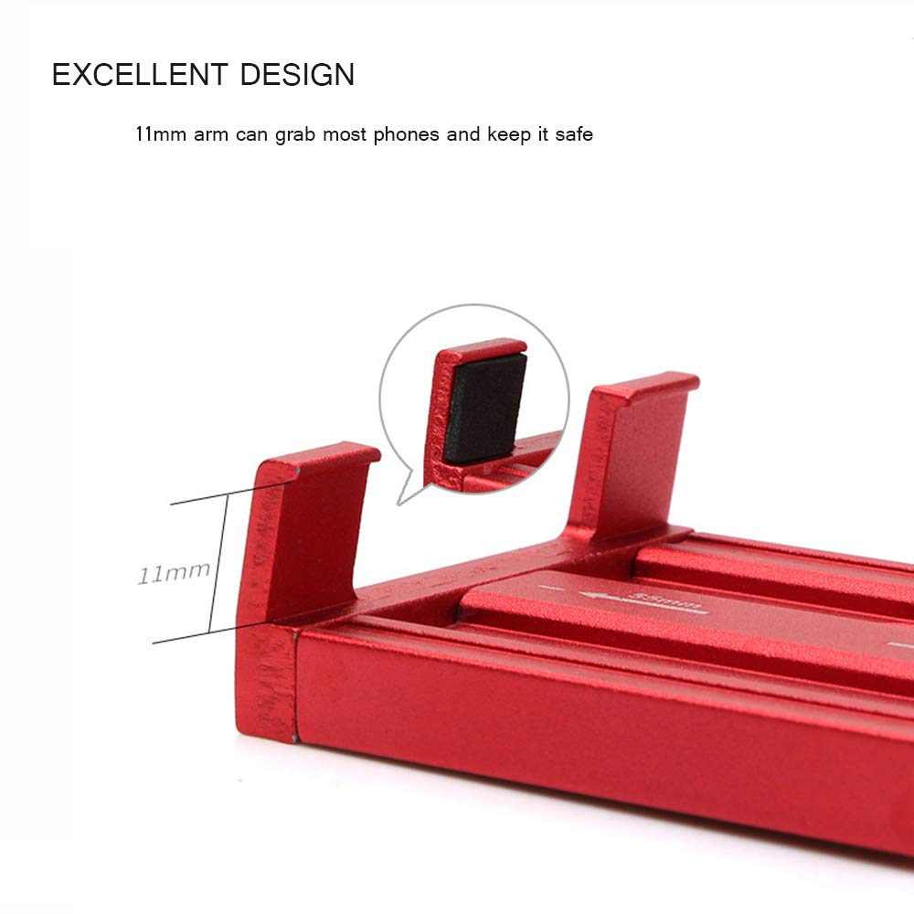 Samsung FAPPEN Porta Cellulare per Bici Universal Regolabile in Lega di Alluminio Manubrio per Bici Supporto per Smartphone//Bicicletta Compatibile con iPhone XS Max//X//XR Xiaomi Huawei