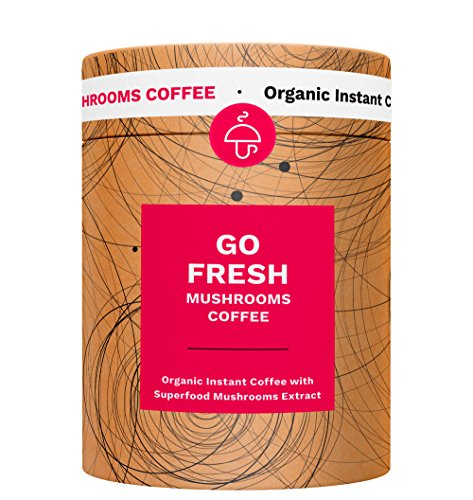 Mushroom Cups Go Fresh Superfood Instant Mushroom Coffee - 10pk of Wild Mediterranean Chanterelle & Chaga $1.39 per Serving for Energy and Focus Vegan Organic Gluten Free Sugar Free -