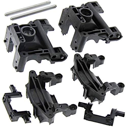 - HPI 1/8 Savage XL Flux Gearbox BULKHEADS, Aluminum Joint Posts Front Rear