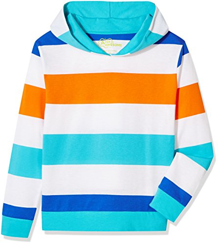A for Awesome Boys Long Sleeve Pullover Hoodie Sweatshirt Large Multi Color Stripe