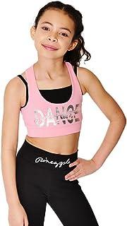 011e7e563499 Pineapple DANCEWEAR Girls Dance Wrap Crop Leggings Black with Silver ...