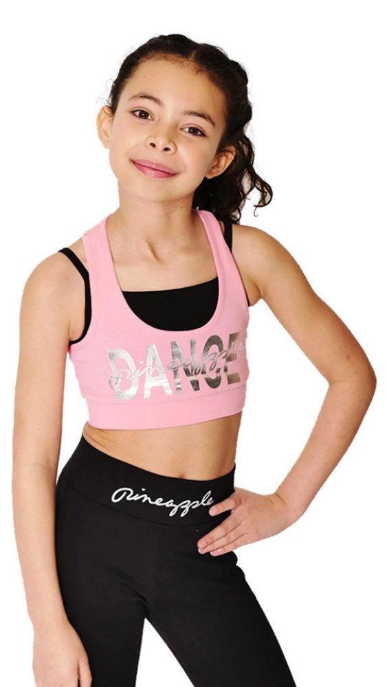 1290bcda6 Pineapple DANCEWEAR GIRLS Racerback Double Crop Top Pink Ideal for ...