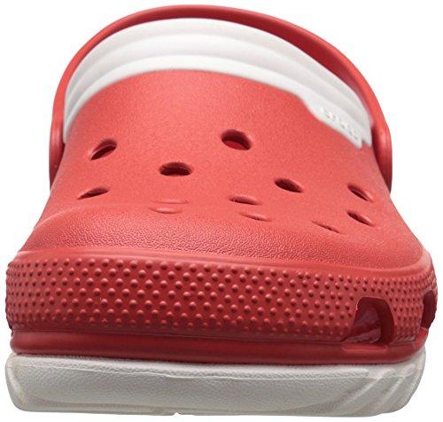 Crocs Duet Sport max - Zuecos de sintético para hombre Flame/White