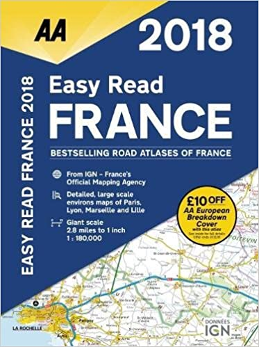 Large Scale Map Of France.Aa Easy Read France 2018 Aa Road Atlas Aa Road Atlas France