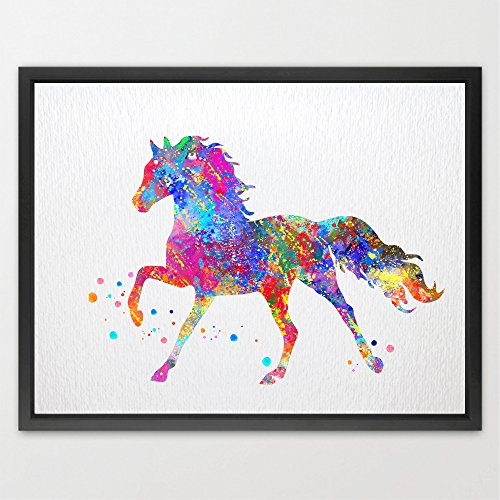 Dignovel Studios 11X14 horse watercolor print new baby gift baby shower gift nursery décor home décor wall art print fine art print kids art print playroom art ()