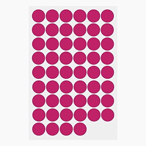 Hot Pink Polka Dots, Removable Wall Sticker Home Decoration Vinyl Circle Wall Decal Vinyl Stickers Nursery Decor, 1.6