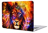 lion air - A1369/A1466 Macbook Air 13 Inch Case Cover, Salmen Plastic Hard Protective Shell Case for Mac book air 13 Inch with Keyboard Cover (Flaming Lion)