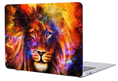 Lion Air (Macbook Air 13 Inch Case Cover, Salmen Plastic Hard Protective Shell Case for Macbook air 13 Inch A1369/A1466 with Keyboard Cover (Flaming Lion))