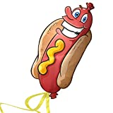 Huge Hotdog Kite for Kids - Launches At The Slightest Breeze - Best for Beach Games - Highly Durable - Free String, Spool, and eBook - Easy Flyer With Lifetime Warranty