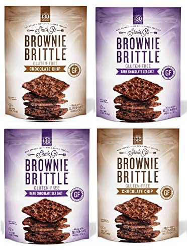 (Brownie Brittle, Gluten-Free Variety Pack, 5 Oz bags (Pack of 4), The Unbelievably Rich & Delicious Chocolate Brownie Snack with A Cookie Crunch)