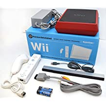 Nintendo Wii 8GB Mini Red/Black Video Game Console Home System RVL-201 Bundle