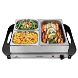 Chefman Electric Buffet Server + Warming Tray w/Adjustable Temperature & 3 Chafing Dishes, Hot Plate Perfect for Holidays, Catering, Parties, Events & Home Dinners, 14