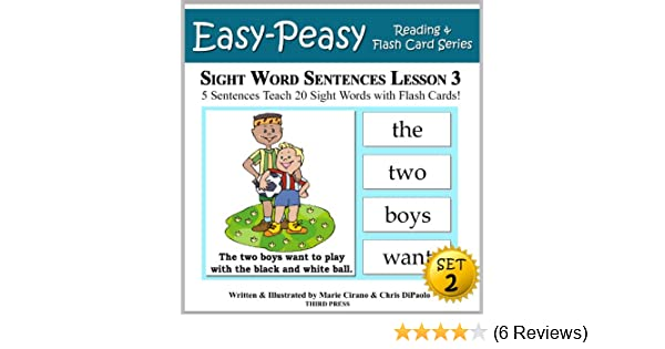 Sight Word Sentences Set 2 - Lesson 3: 5 Sentences Teach 20 Sight Words  with Flash Cards (Learn to Read Sight Words - SET 2)