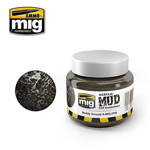 Ammo of Mig Jimenez Muddy Ground - Acrylic Mud 250mL Jar #2105