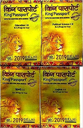 DU SOL BA Prog 1st Year Hindi Medium King Passport Hindi A