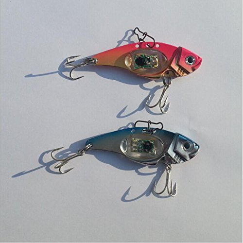 Fishcm Saltwater Fish Bait LED Light Halibut Redfish Musky Bass Fishing Lure Assortment Attractant Offshore Deep Sea Dropping