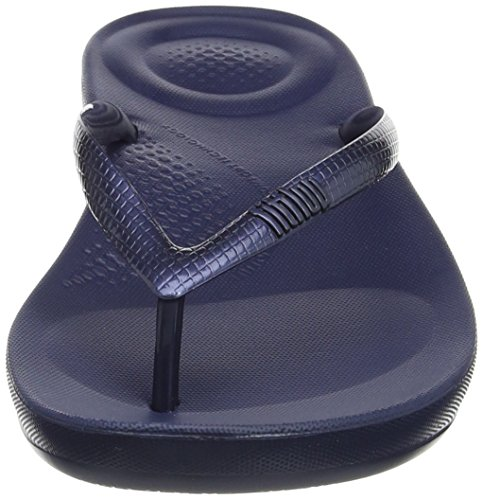 FitFlop Blue Midnight Women Sandals iQushion Flip Flop Navy Comfortable gUrvqgxwZ4