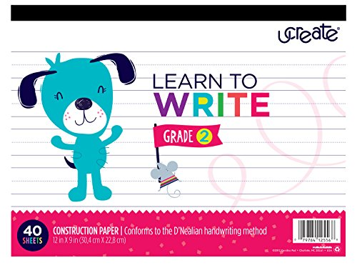 "Carolina Pad U-Create Learn To Write Grade 2, 12"" x 9"", 4..."