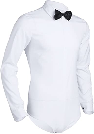 CHICTRY Camiseta Body Ballet Hombre Manga Larga Camisa Shirt Bodysuit Maillot Danza Adulto Una Pieza Mono Latín Baile Bodies M-XXXL Talla Grande: Amazon.es: Ropa y accesorios