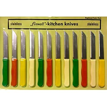 Amazon.com: Fixwell Stainless Steel Knife Set, 12-Piece ...