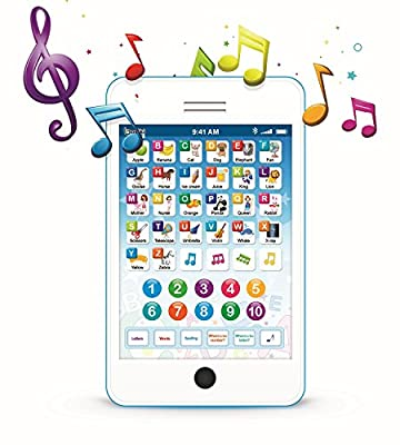 """Learning Pad Fun Phone with 6 Toddler Learning Games by Boxiki Kids 