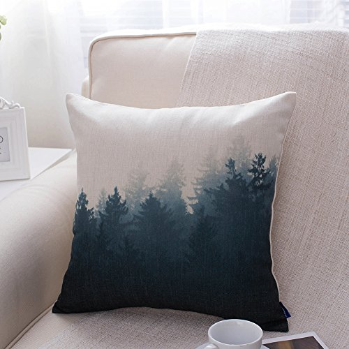 Scandinavian Forest-Themed Cushion Cover