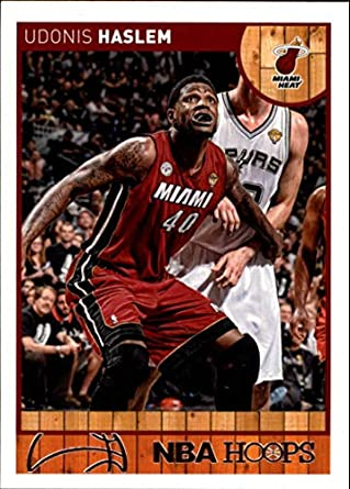 wholesale dealer 79895 ea948 Amazon.com: 2013-14 NBA Hoops #82 Udonis Haslem Miami Heat ...