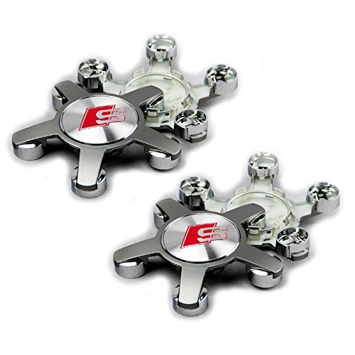 4pcs. S Line Sline Wheel Center Cap Fit for Audi A4 S4 S5 A5 A6 S6 S8 Q5 Q7 TT hub caps Set