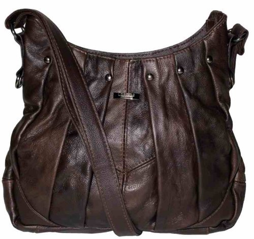 Black or Style Latest Red Bag Handbag Ladies Trend On Leather Brown Tan Brown 0wCqgq1