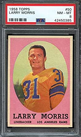 Amazon Com 1958 Topps 50 Larry Morris Psa 8 La Rams