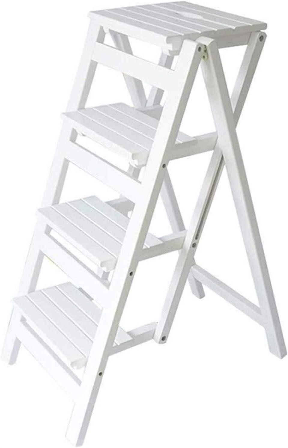 Yxsd Plegable escalera con 4 pasos, taburete, portable del hogar Escalera del taburete, silla de comedor, Paso taburete de madera for niños y adultos, la herramienta de jardinería doméstica, Heavy Dut: Amazon.es: