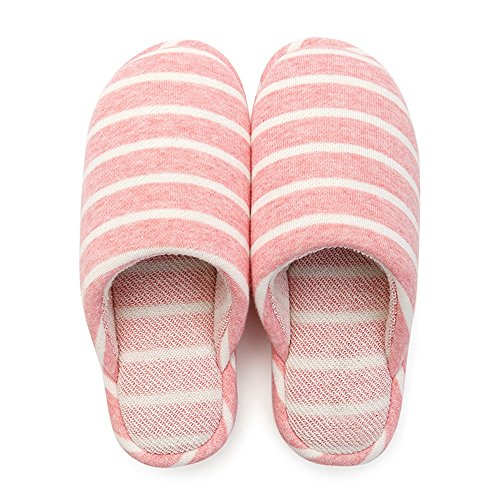 los deslizadores Las invierno del mujeres casa opcionales algodón Zapatillas calientes deslizadores los del de con interior del 3 antideslizantes colores la C casan rayados Cómodo ta del espesamiento Cqw78f