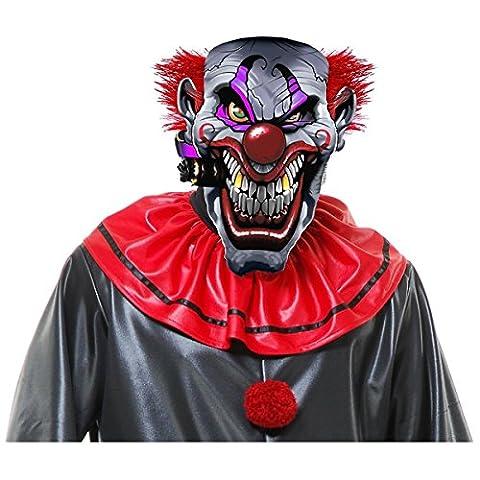 Smokin Joe Evil Clown Mask Costume Accessory Adult Mens Halloween (Rat Bones Jacket)