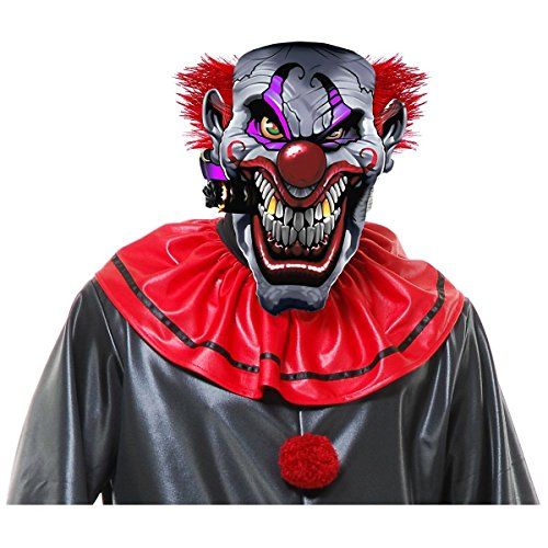 Kit The Kat Child Costumes (Smokin Joe Evil Clown Mask Costume Accessory Adult Mens Halloween)