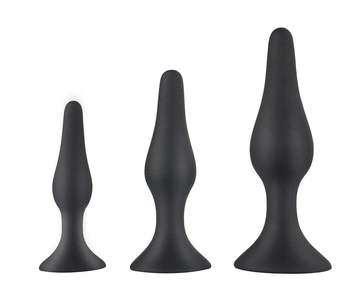 TruBliss Eros, Premium Silicone Butt Plug and Anal Starter Kit, Excellent Sex Toy for Experienced Users and Beginners, 100% Medical Grade Silicone