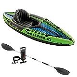 Intex K1 Challenger Kayak 1 man Inflatable Canoe + oars
